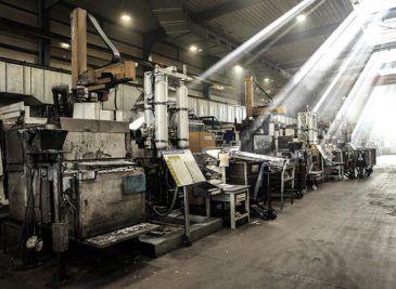cambiar maquinaria industrial